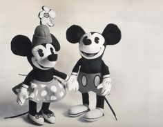 vintage Mickey and Minnie Mouse dolls