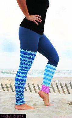 LEGGING 'WAVE Rider' Style Legging for SURF Yoga by SchatziBrown #surf #legging