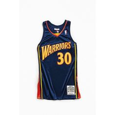 the best attitude ac231 27fde Mitchell   Ness Stephen Curry Basketball Jersey ( 300) ❤ liked on Polyvore  featuring men s fashion, men s clothing, men s activewear and men s  activewear ...
