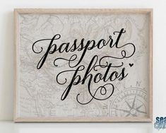 Travel Theme Party Sign Passport Photos Sign Travel Theme   Etsy