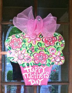 Mother's Day Door Hanger by BronwynHanahanArt on Etsy, $45.00
