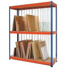 METAL POINT®PLUS Vertical Storage Shelving Units #ShelvingUnits Art Studio Storage, Art Studio Organization, Art Storage, Storage Rack, Storage Boxes, Storage Shelves, Storage Spaces, Shelving Units, Wall Shelves