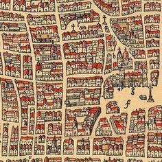 Map of Paris Circa 1575 | Old Maps of Paris