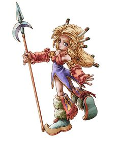 Concept art of the heroine of Legend of Mana