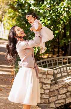 cute & little blog | petite fashion | blisstulle mommy and me blush pink tulle skirt holiday outfit