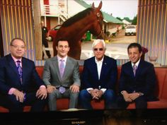 Triple Crown Winning connections of American Pharoah. Owner Ahmed Zayat, his son Justin, Trainer Bob Baffert, Jockey Victor Espinoza. The Today Show in studio  interview. 6/8/2015
