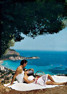 Romantic picnic atop a hill with a splendid view in Mondello, Sicily