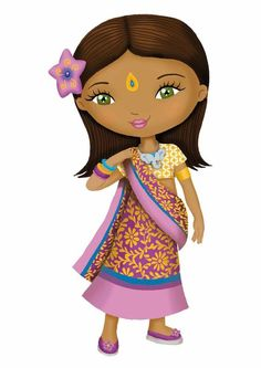 Coisas que Gosto:    PESSOAS DO MUNDO E O MUNDO We Are The World, People Of The World, Traditional Dresses Images, Drawing For Kids, Art For Kids, Costumes Around The World, Butterfly Drawing, Dibujos Cute, Indian Crafts