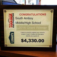 SAHS is Lowe's Toolbox for Education winner! #southamboypride