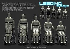 Conceito de cadeira de rodas futurista que permite ao usuário ficar em pé | Portal PcD On-Line