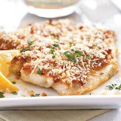 "Broiled Flounder with Parmesan ""Caesar"" Glaze | Recipe | Parmesan ..."