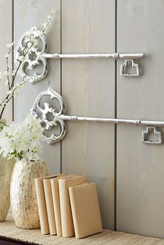 The brilliant shine and beautiful scrollwork of these Pier 1 Aluminum Keys add instant charm to your spring wall collage.