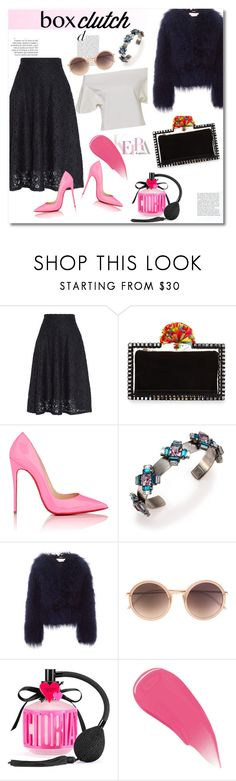 """Get the look"" by vkmd ❤ liked on Polyvore featuring DKNY, Charlotte Olympia, Christian Louboutin, DANNIJO, Chloé, Linda Farrow, Victoria's Secret, Burberry, women's clothing and women's fashion"