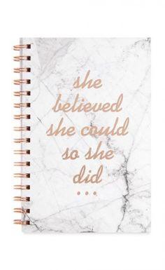 Marble Notebook I Slogan I rosegold I Primark