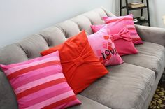 Adorable DIY Throw Pillows for Valentine's Day. - The V Spot