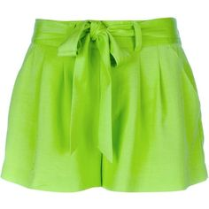 ALICE+OLIVIA belted shorts ($149) ❤ liked on Polyvore featuring shorts, bottoms, pants, short, alice + olivia, pocket shorts, alice olivia shorts, short shorts and belted shorts