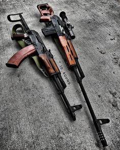 96 отметок «Нравится», 2 комментариев — DJTackleberry (@10_8guns) в Instagram: «These two. #ak47 #akms #underfolder #polish #russian #psl #dragunov #rifle #sniperrifle #dmr…»