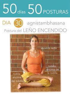 ૐ YOGA ૐ ૐ ASANAS ૐ ૐ Agnistambhasana ૐ 50 días 50 posturas. Día 30. Postura del Leño Encendido.