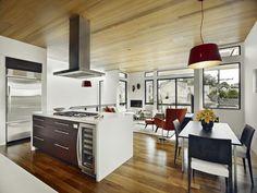 isla cocina moderna campana metal