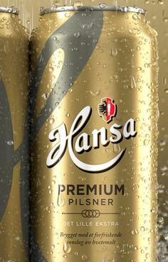 3D Hansa Beer Cans - Packaging & Advertising on Behance Pilsner Beer, Beer Cans, Light Beer, Marketing And Advertising, Things To Think About, Behance, Packaging, 3d, Canning