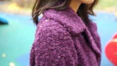 Si Zhao, in Shop Lookbook Purple Oversize Wool Coat