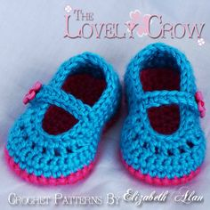 Girl Booties Crochet Pattern for Baby Teaparty Maryjanes -  4 sizes - Newborn to 12 months. 2 strap style options included. digital