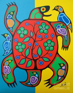 art program Turtle Painting by Jim Oskineegish Turtle Painting by Jim Oskineegish Native Art, Native American Art, Aboriginal Art For Kids, Aboriginal Art Animals, Woodland Art, Haida Art, Inuit Art, Turtle Painting, Canadian Art