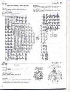 Crochet and arts: trabalhos em barbante 54 banheiro e cozinha