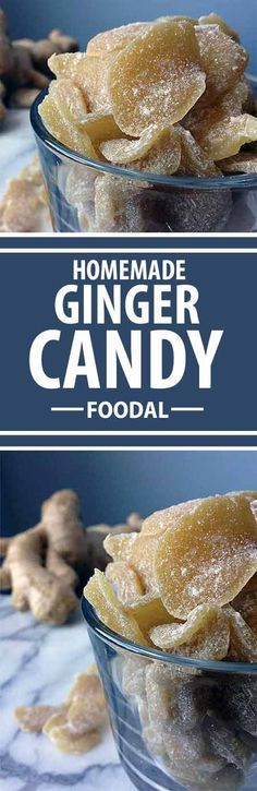 Curious about how to make your own natural, crystalized ginger? Sweet, spicy, chewy, crunchy – Foodal has the perfect recipe for you. Read on for more. Candy Recipes, Dessert Recipes, Healthy Snacks, Healthy Recipes, Homemade Candies, Macaron, Perfect Food, Food To Make, Sweet Tooth