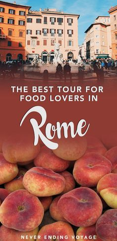 If you love Italian food, then you won't want to miss this food lover's tour through Rome. #rome #italy