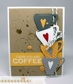 Simon Says Stamp Coffee Cup die card by Amy Rysavy (CTD#377)