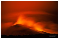 The Highest - Volcano Etna, New Southeast Crater erupting during the night. View from 2900 amsl, photo by Vulcanian