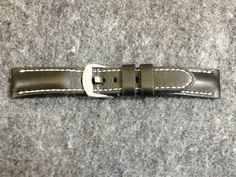 Men's Gunny Black Padded Series Watch Strap / Band 20mm Black Color  #Gunny
