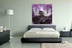 Koop Hart in paars van Miranda Robbe op canvas, dibond of (ingelijste) poster print.