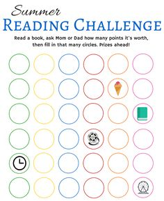 Summer Reading Challenge Free Printable - http://www.shapinguptobeamom.com/summer-reading-challenge-printable/
