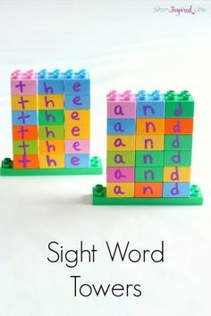 LEGO Duplo Sight Word Towers