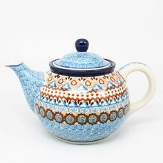 Polish Pottery Medium 3 Cup Teapot 1359 ** Visit the image link more details.(This is an Amazon affiliate link and I receive a commission for the sales)