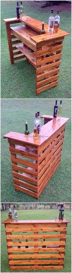 Quite splendidly designed pallet counter tables are all here for you to make it Wood Pallet Projects Counter Designed Pallet splendidly Tables Carpentry Projects, Diy Pallet Projects, Pallet Ideas, Diy Pallet Furniture, Furniture Projects, Pallet Counter, Bar Counter, Backyard Bar, Pallet Designs
