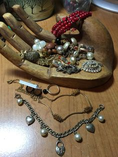Harvest Salvage lot of  Jewelry  parts & by Scentedlingerie