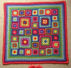 Love this color combo in the Stitch Nation yarn.  So cheerful.  From Lucy at Attic 24.