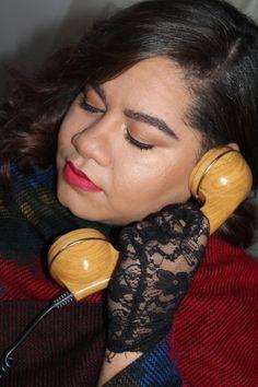 City Girl Vibe Bodyography minimal makeup and bold lip winter inspired makeup look #Makeup #Beauty #Winterlook #wintermakupellok #vintage #lace #fashion #blog #blogger #redlips #boldbrows