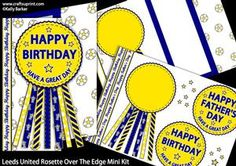 Leeds United Rosette Over The Edge Father's Day or Birthday