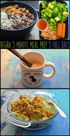 Vegan 5 Minute Meal Prep - 5 Full Days - For Busy Students - For Work - $36 Cheap - Budget, Easy, Beginners - 1500 Calories - High Protein - Rich Bitch Cooking