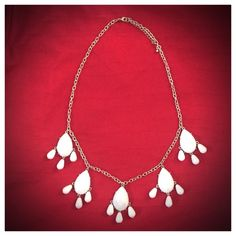 """Silver and white statement necklace New! White faceted beads with silver accents and chain. Light weight and adjustable from 24-27"""". Jewelry Necklaces"""