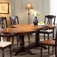 Iconic Furniture Oval Double Butterfly Leaf Table in Whiskey/Mocha Dining Table With Leaf, Double Pedestal Dining Table, Counter Height Dining Table, Dining Table Design, Solid Wood Dining Table, Extendable Dining Table, Dining Table In Kitchen, Dining Set, Oval Table