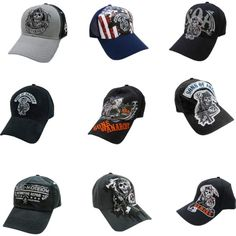 Sons of Anarchy Ball Caps Ball Caps, Sons Of Anarchy, Baseball Hats, Polyvore, Fashion, Moda, Baseball Caps, Fashion Styles, Baseball Cap