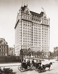 Henry Janeway Hardenbergh - Gilded Age architect's building, The Plaza Hotel. Pictured here in c.1907, shortly after the end of the Gilded Age, (c.1900).  The Cornelius Vanderbilt 11, Gilded Age mansion, at 1 West 57th Street, NYC,  is visible in the left foreground of photograph. Vanderbilt's quintessential Gilded Age mansion, and the largest single family residence ever built in NYC, to date, was constructed in c.1883, demolished in c.1926-7. {cwl}