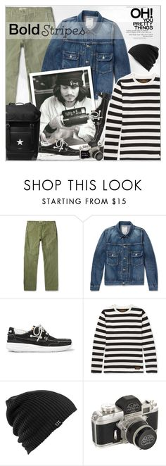 """""""Menswear : Bold stripe!"""" by alves-nogueira ❤ liked on Polyvore featuring Visvim, Gucci, Burton, Givenchy, men's fashion and menswear"""