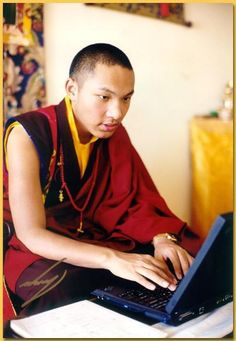 The 17th Gyalwa Karmapa, Ogyen Trinley Dorje. The ancient and the modern rolled into one man.