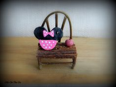 Clay diffuser for essential oils. Minnie Mouse. Oils On The Go.